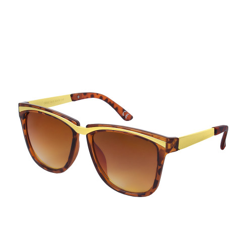 Women's Patterned Plastic Frame Sunglasses