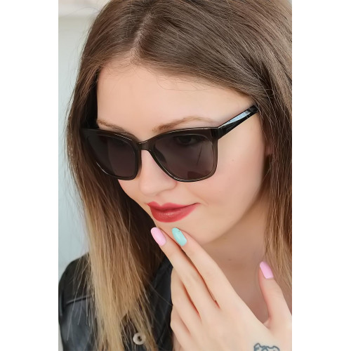 Women's Brown Square Frame Sunglasses