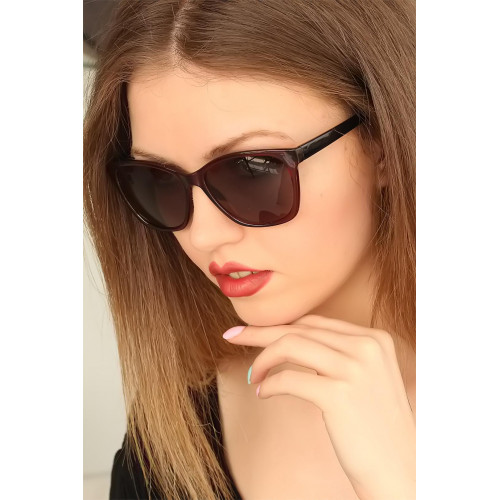 Women's Claret Red Frame Sunglasses