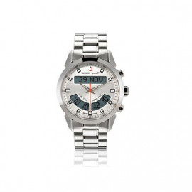 Alfajr Deluxe Watch with Stainless Steel bracelet WA-10S - White