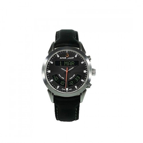 Alfajr Deluxe Watch with Leather bracelet WA-10L - Black