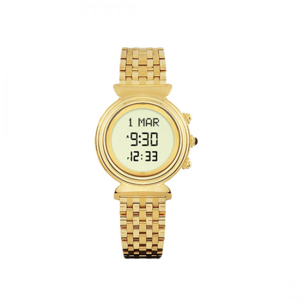 Alfajr Ladies Watch with Folding bracelet / Digital WF-14S - Gold