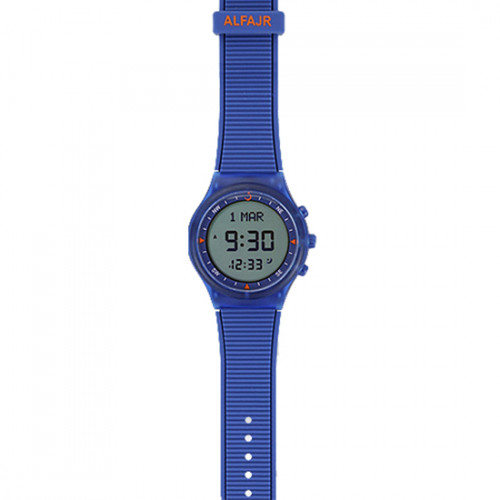 Alfajr Sport Watch with Rubber Strap and case WY-16 - Blue