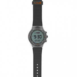 Alfajr Sport Watch with Rubber Strap and case WY-16 - Grey