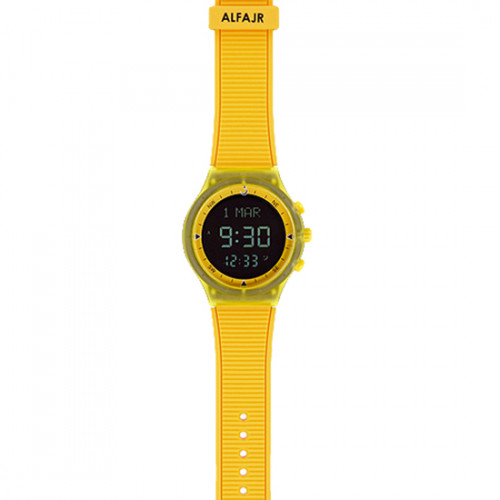 Alfajr Sport Watch with Rubber Strap and case WY-16 - Yellow