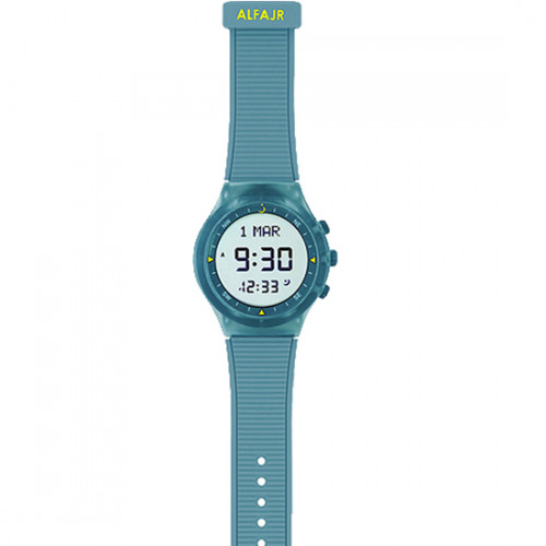 Alfajr Sport Watch with Rubber Strap and case WY-16 - Turquoise