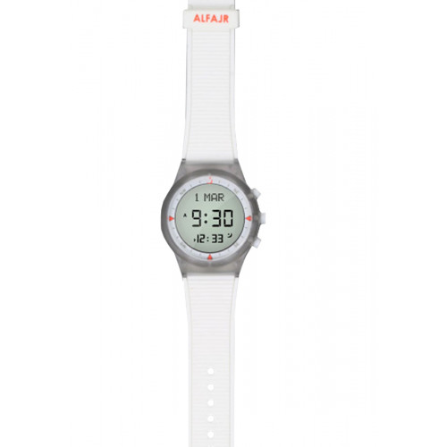Alfajr Sport Watch with Rubber Strap WY-16 - White