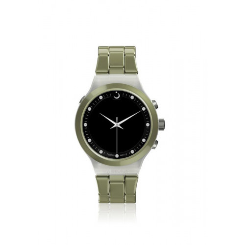 Alfajr Elegance Watch Aluminum Strap and Plastic case for unisex/Analog Digital WB-20 Green