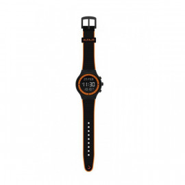 Alfajr Sport Watch with Rubber Strap and case WY-16 Black with Orange lines