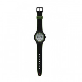 Alfajr Sport Watch with Rubber Strap and case WY-16 Black with Green