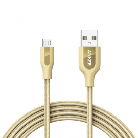 Anker Powerline Plus Micro USB - 6ft /1.8m - Gold