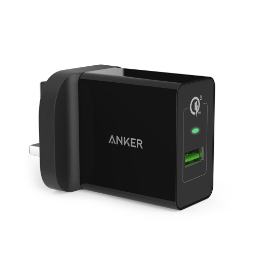 Anker PowerPort Plus 18W - 1Port - Qualcomm - Black
