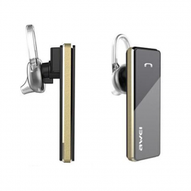 Awei Blutooth earphone with microphone - Black