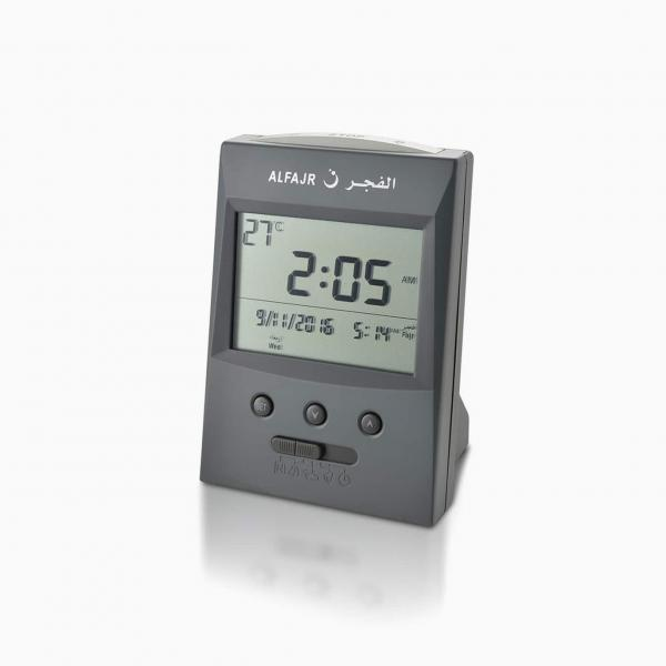Alfajr Automatic Azan Alarm Clock Grey