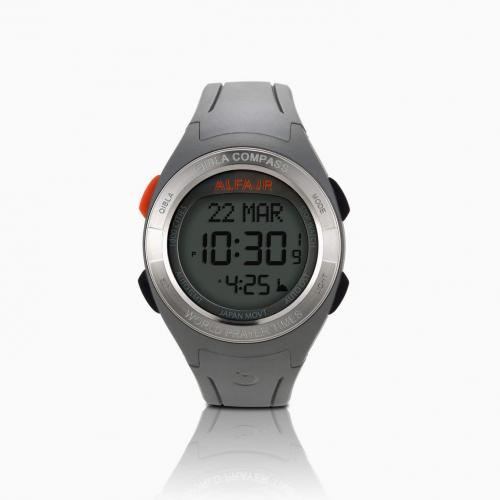 Alfajr Qibla Watch Compass with Rubber Strap and plastic case WQ-18 - Grey