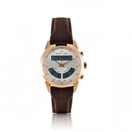 Alfajr Deluxe Watch with Leather bracelet WA-10B - Brown and White