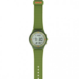 Alfajr Sport Watch with Rubber Strap and case WY-16 - Green