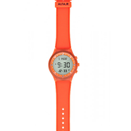 Alfajr Sport Watch with Rubber Strap and case WY-16 - Orange