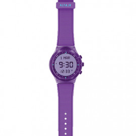 Alfajr Sport Watch with Rubber Strap and case WY-16 - Purple