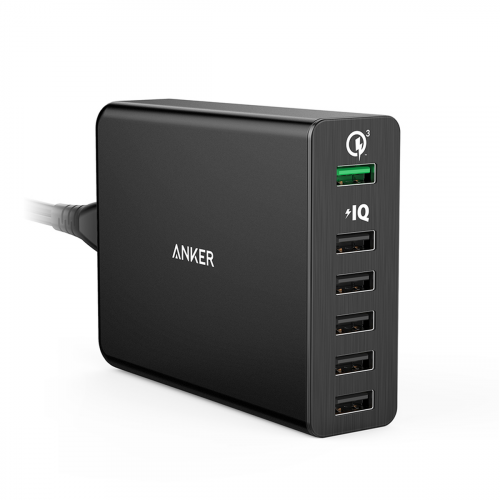 Anker PowerPort 6 - 6 Port- Qualcomm& PIQ - Black