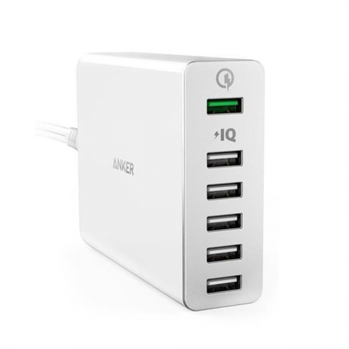 Anker PowerPort 6 - 6 Port- Qualcomm& PIQ - White