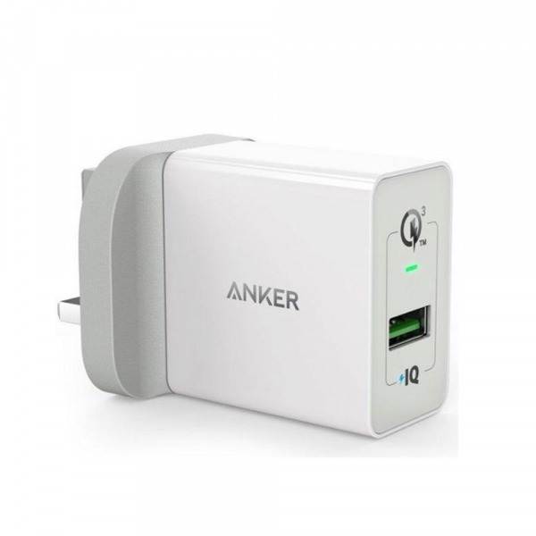 Anker PowerPort Plus 18W - 1Port - Qualcomm -  White