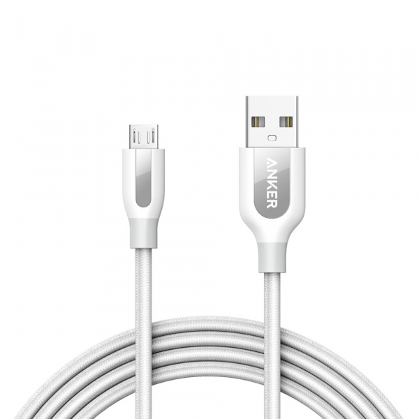 Anker Powerline Plus Micro USB - 6ft /1.8m - white