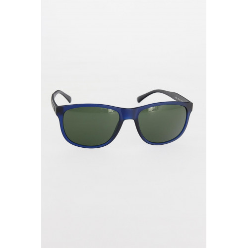 Men's Navy Blue Frame Green Sunglasses