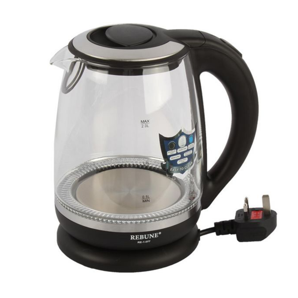 Rebune Electric Kettle - re-0-077 - 2L - Clear/Black