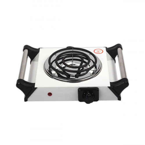 Single Electric Stove RE-4-031 White/Black/Silver