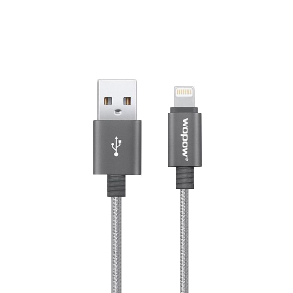 Wopow Lightning Nylone Braided Cable - 3ft/0.9m - Grey